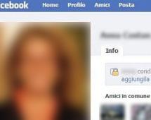 Facebook, profilo di una persona assassinata