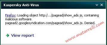 Virus in Adsense