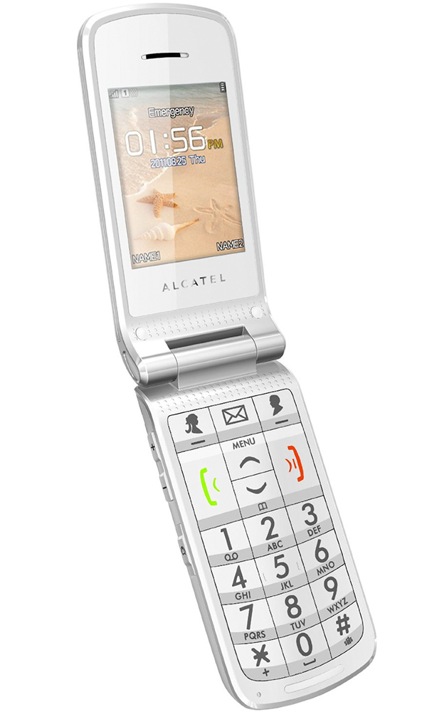 Alcatel Onetouch 536, cellulare per anziani a conchiglia